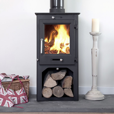 Cheap 5kw wood burning stove with stand/wood store