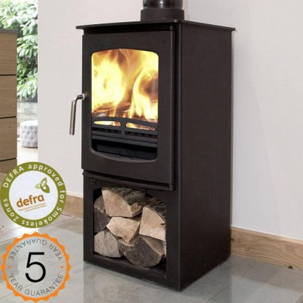 5kw Defra-approved wood burning stove with stand